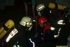 Übung der Einsatzabteilung am Feuerwehrhaus am 24.06.2010
