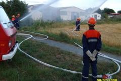Übung der Jugendfeuerwehr am 07.08.2008