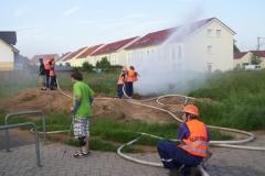 Übung im Neubaugebiet am 10.06.2010