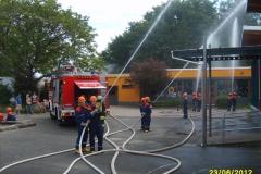 Jubiläumsübung der Jugendfeuerwehr Langstadt am 23.06.2012